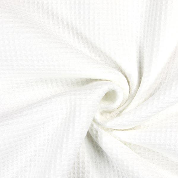 au m/ètre Tissu /éponge nid dabeille blanc