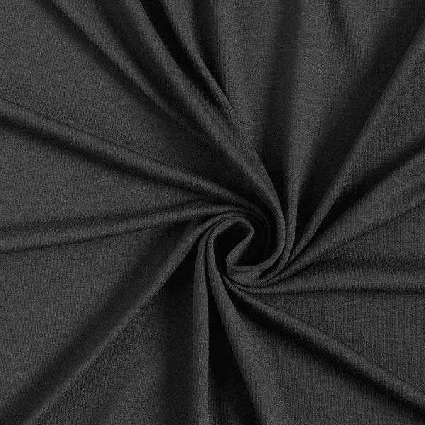 0,5m Jerseystoff Schwarz Viskosejersey leicht bielastisch stretch Meterware