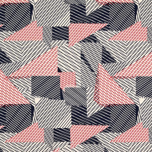 Viskosejersey Abstrakte Muster Natur