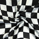Cetim Party Black & White Checks 1