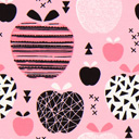 Tela de jersey Manzana – rosa