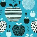 Jersey Äpplen – turkos