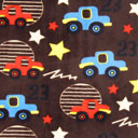 Tissu pelucheux Auto – marron