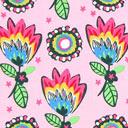 Popelina Flores de fantasía 2