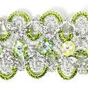 Lurexborte mit Blumenpailletten 2