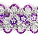 Lurexborte mit Blumenpailletten 6