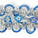 Lurexborte mit Blumenpailletten 7