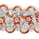Lurexborte mit Blumenpailletten 10