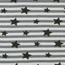 Striped Waistband & Cuff Material Black Stars 8