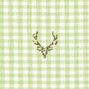 Cotton Checks Deer 1