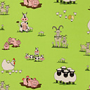 Crazy Farm 3 - Cotton - light green