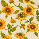 Dekostoff Natur – Sonnenblume