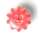 Kunststoffknopf, Sonnengesicht 46