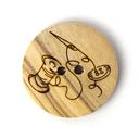 Botón de madera Hilo + Aguja