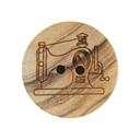 Botón de madera - Máquina de coser
