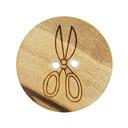 Botón de madera - Tijeras