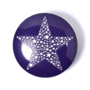 Kunststoffknopf Sparkling Stars 7