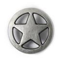 Metallknopf Stern 1