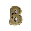 Buchstabenknopf Metallic – B (851)