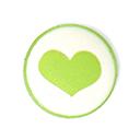 Kunststoffknopf - Herz 1 | Tante Ema
