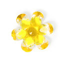 Plastic Button Crystal Flower 4
