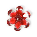 Plastic Button Crystal Flower 5