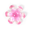 Plastic Button Crystal Flower 6