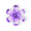 Plastic Button Crystal Flower 7