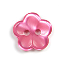 Kunststoffknopf, Brilliant Flower 52
