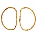 Asas de bolsos Bambus, oval