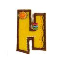 Buchstaben - Applikation, H