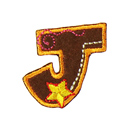 Buchstaben - Applikation, J