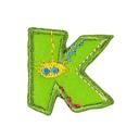 Buchstaben - Applikation, K