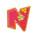 Buchstaben - Applikation, N