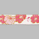 Satin Ribbon with Flowers 1