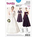Plus Size Brautkleid / Bolero, Burda 6710