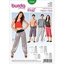 Freizeithose für Sie und Ihn, Burda 7230