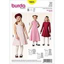 Kleid mit Kellerfalten, Burda 9431
