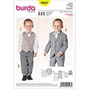 Jungenanzug mit Weste, Burda 9443