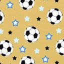 Tela Single Jersey Estrella de fútbol 1