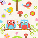 Cotton Owl & Bird 1