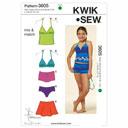 Bademode für Mädchen, KwikSew 3605