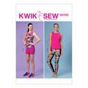 Top / pantalón corto / leggins, KwikSew 4163