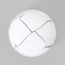 Lederknopf White