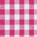 Algodão Corações quadrados 7