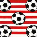 Tela single Jersey Fútbol - rojo