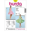 585e84877 Vestido de los años 50 / Falda campana, Burda 7556 - Patrón de corte ...