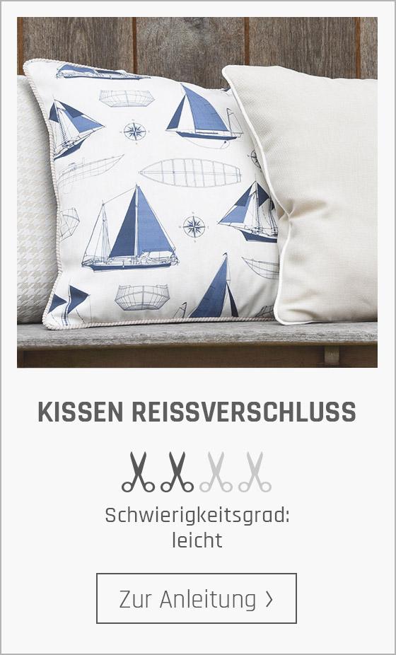 Kostenlose Nähanleitungen für Kissen bei stoffe.de!