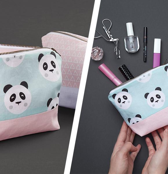 Kosmetiktasche für Anfänger nähen - Nähanleitungen Taschen- stoffe.de