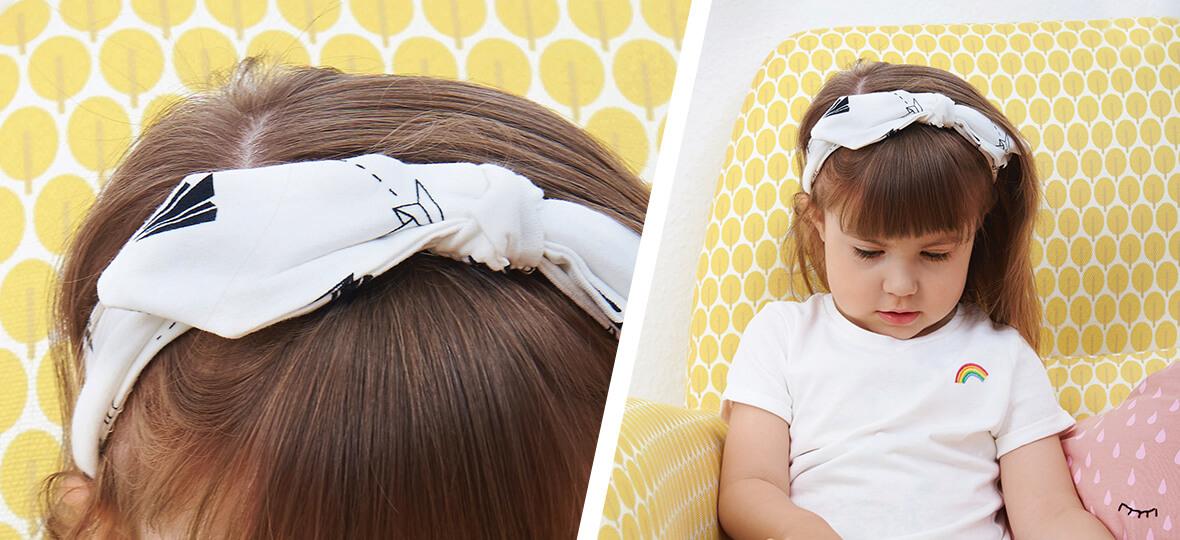 Stirnband für Kinder in 4 Schritten nähen - kostenlose Nähanleitung ...
